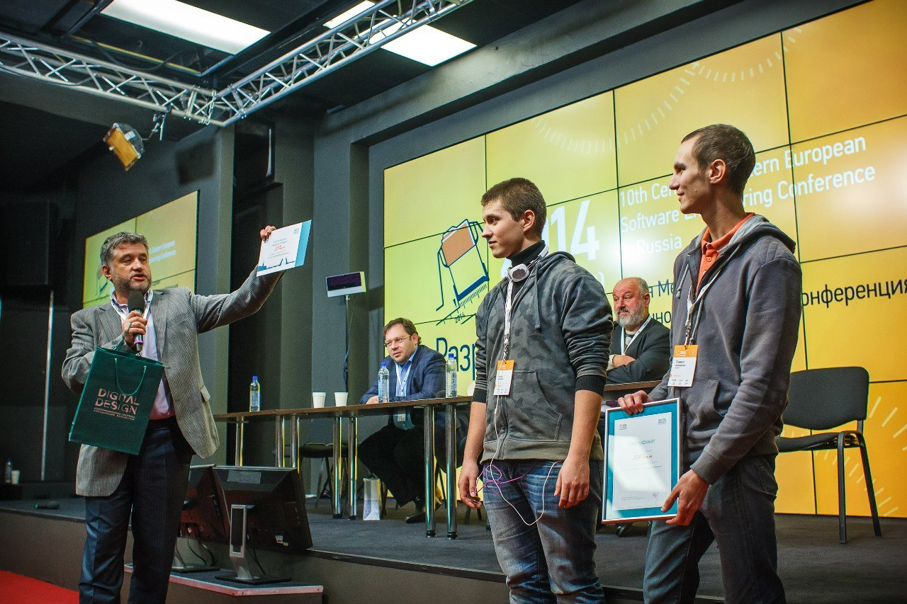 Awarding the Hackaton winners