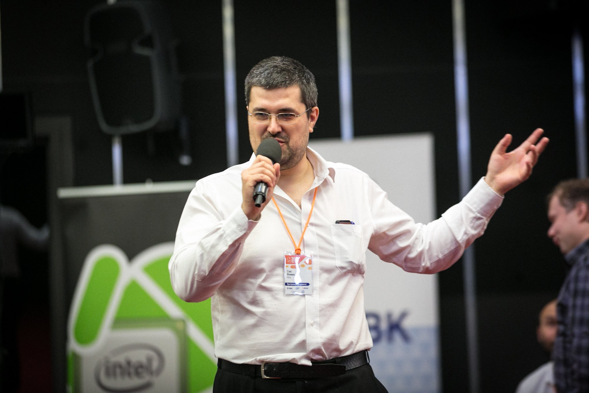 Stas Fomin at the mobile development section